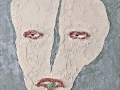 Große Relief Maske